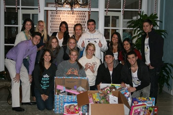 2 College Brothers moving company toy drive in Gainesville, FL at the University of Florida