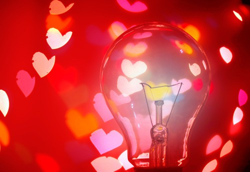 valentine's lightbulb