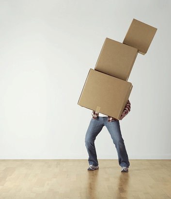 carrying boxes, over packed, items to skip when moving