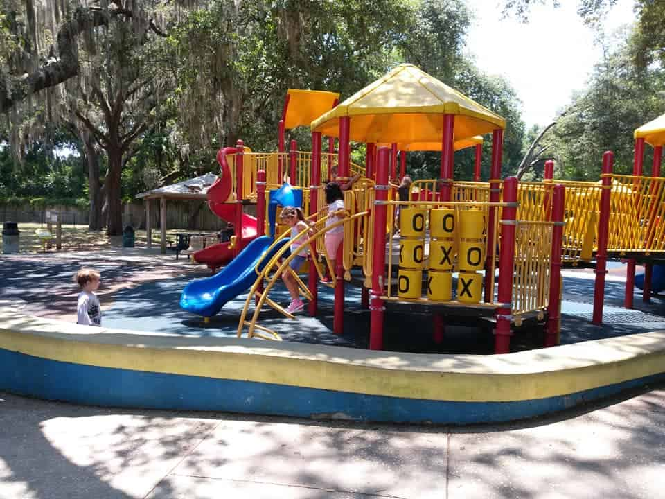 Kids playing at All Persons Rotary Park in Brandon, FL