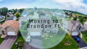 Aerial view of a sunny Florida neighborhood.