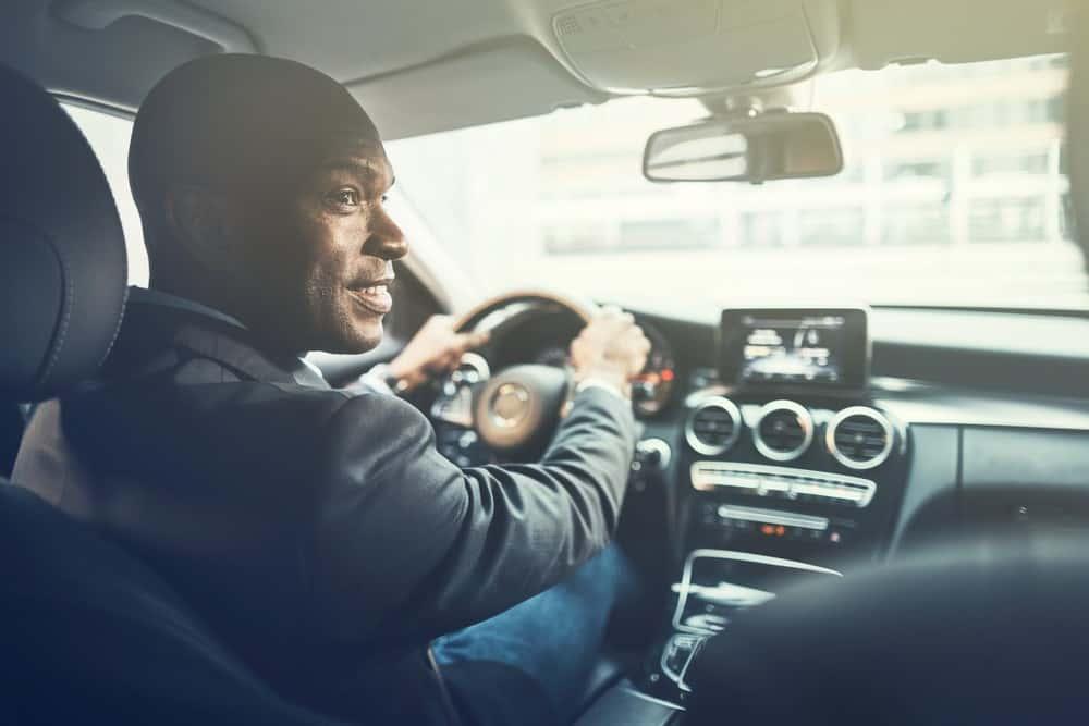 Employment Opportunities Man Driving Car