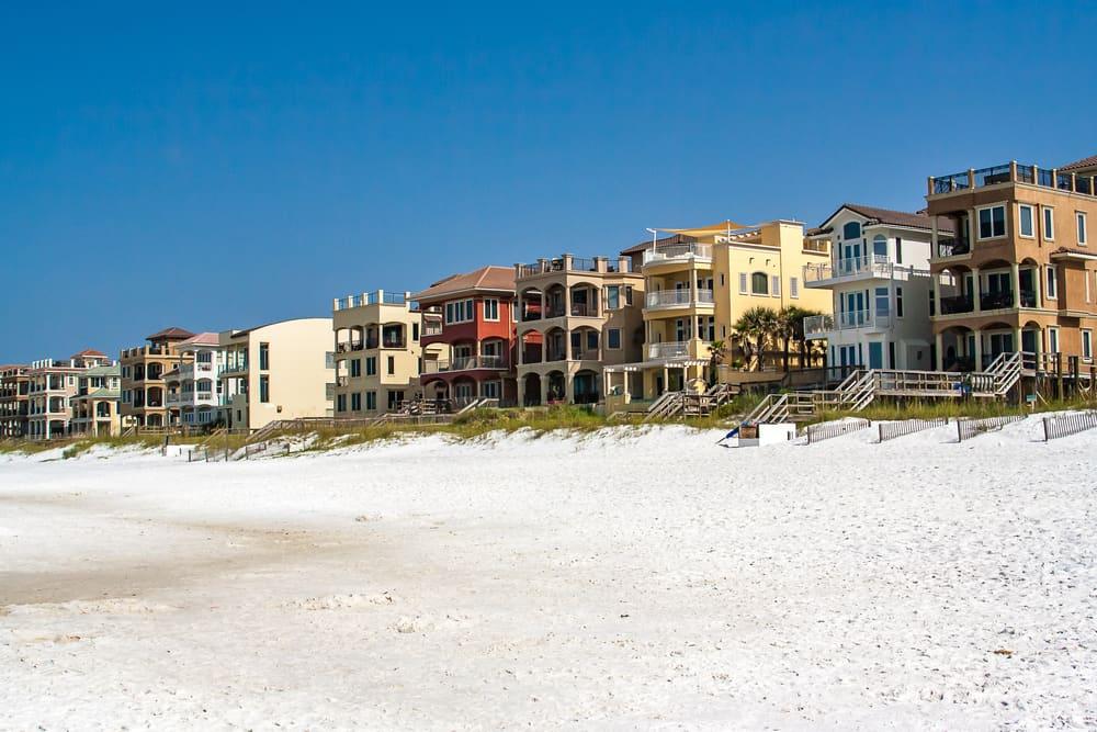 Gorgeous beachfront homes in Florida.