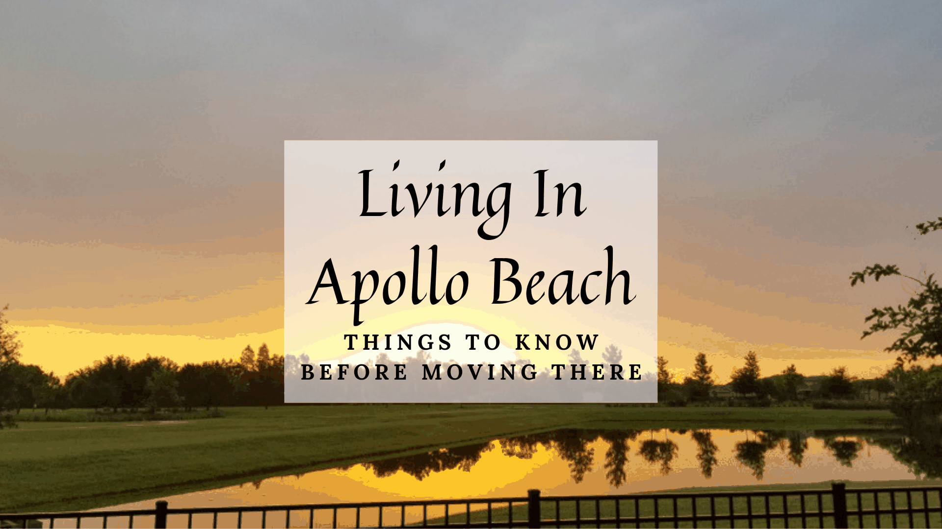 Living In Apollo Beach Fl 2020