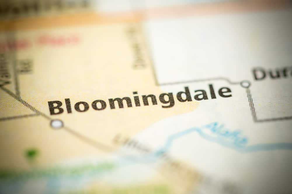 Bloomingdale on the map